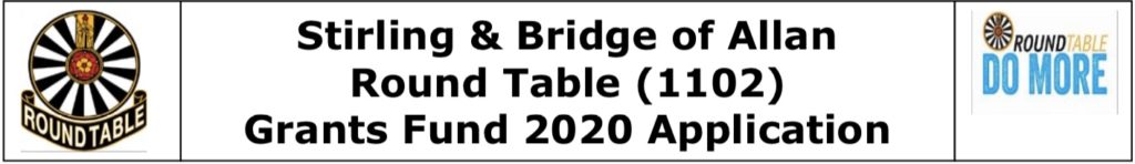 Stirling & Bridge of Allan round Table Grants Fund 2020 Application