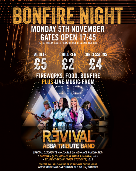 Bonfire Night 2018 with ABBA Revival